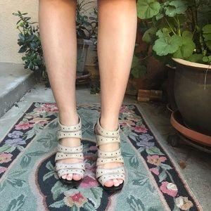 Light gray Michael Kors leather heels